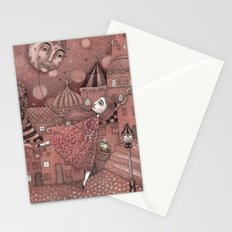 Strawberry Moon in June Stationery Cards