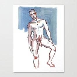 JEFFERY, Nude Male by Frank-Joseph Canvas Print