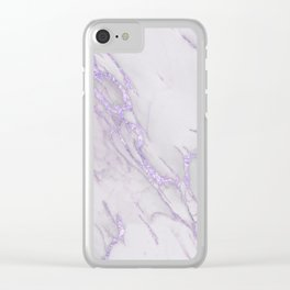 Ultra Violet Marble Clear iPhone Case