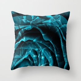 Nuclear Winter Rose Throw Pillow
