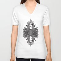 goddess V-neck T-shirts featuring Goddess by ioannart