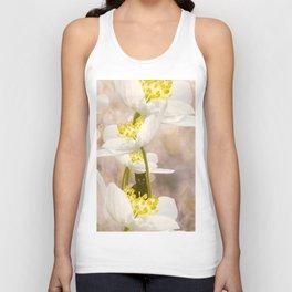 Black Cat With White Flowers #decor #buyart #society6 Unisex Tank Top