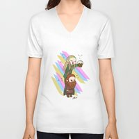 legolas V-neck T-shirts featuring Party Legolas and Gimli  by BlacksSideshow