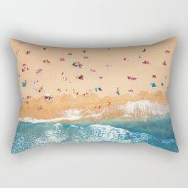 Summer Colors | Aerial Beach Rectangular Pillow