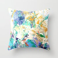 antique Throw Pillows featuring ANTIQUE by Happy as Flynn