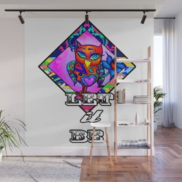 Let it be Pink Owl Wall Mural