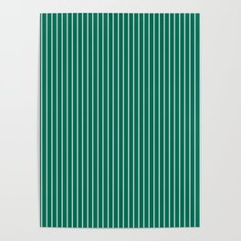 Lush Meadow Stripes Poster