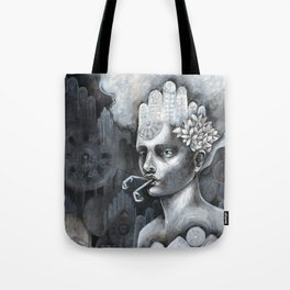 flower and bird Tote Bag