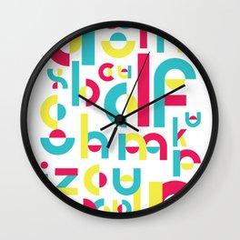 Counter Balance Typeface Wall Clock