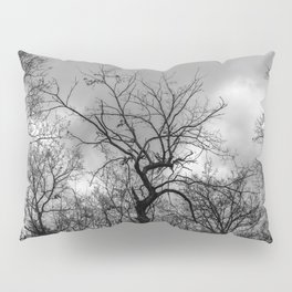 Witchy black and white tree Pillow Sham