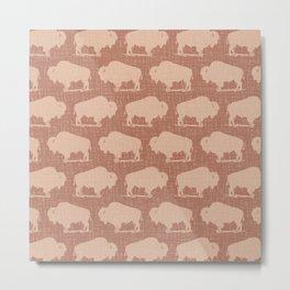 Buffalo Bison Pattern 281 Metal Print