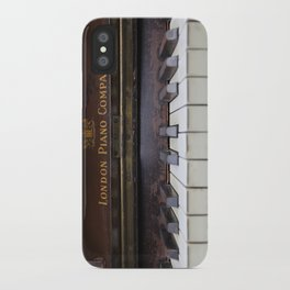 Piano keys Old antique vintage music instrument iPhone Case
