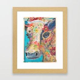 Frida's Pet Cow Framed Art Print
