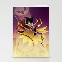 batgirl Stationery Cards featuring Batgirl by Eileen Marie Art