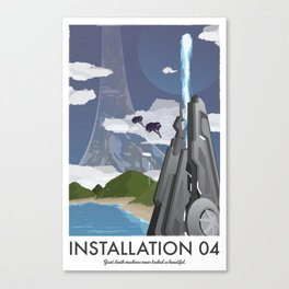 Installation 04 (Halo) Travel Poster Canvas Print
