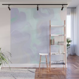 Holographic Marble x Purple Wall Mural