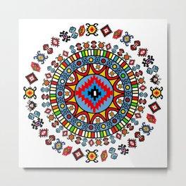Pirot Mandala Metal Print