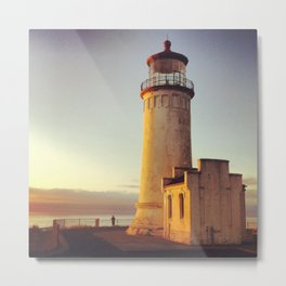 Lighthouse at Cape Disappointment Metal Print