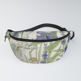 Wildflowers 2 watercolor Fanny Pack