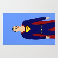 superman Area & Throw Rugs featuring Superman by pablosiano