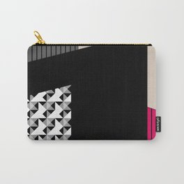 Patchwork black grey red Carry-All Pouch