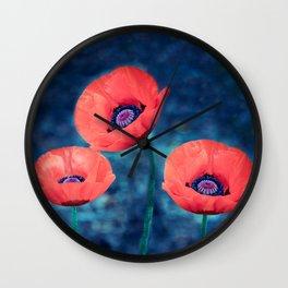 Poppy trio Wall Clock