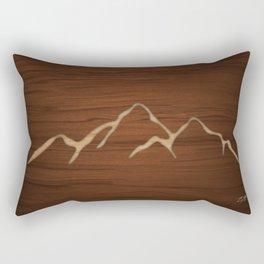 Carved Mountians Rectangular Pillow
