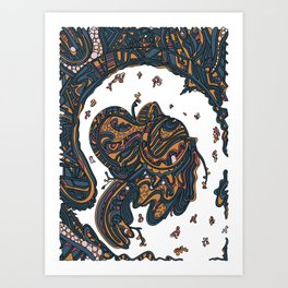 Wandering 50: color variation 1 Art Print