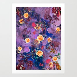flowers purple Art Print