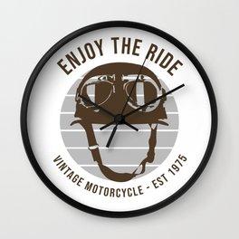 Enjoye The Ride Wall Clock