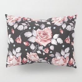 Vintage Pink Rose Flowers Pillow Sham