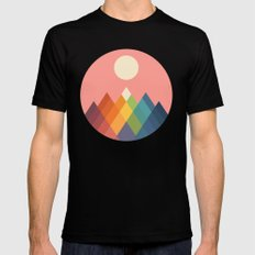 Rainbow Peak Black MEDIUM Mens Fitted Tee