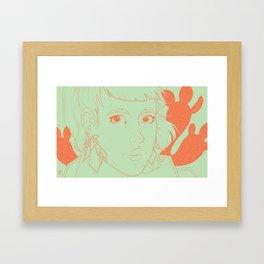 Etsy Girl Framed Art Print
