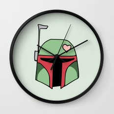 Boba Fett Valentine Wall Clock