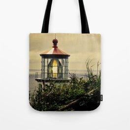 Oregon Heceta Head Lighthouse - Peaking Through The Forrest Tote Bag