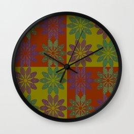 Flower Pattern1 Wall Clock