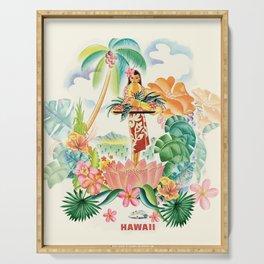 Vintage Hawaiian Travel Poster Serving Tray