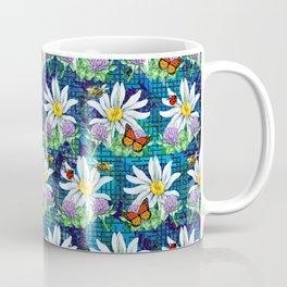 Flowers and bugs pattern Coffee Mug