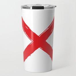 Red X on white background. #society6 #decor #buyart #artprint Travel Mug