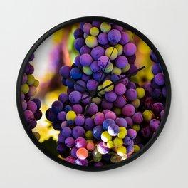 Grapes Hanging Wall Clock