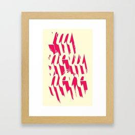 IM NEW HERE Framed Art Print