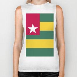 Togo flag emblem Biker Tank
