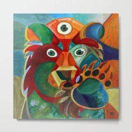 Three Eyed Bear Metal Print