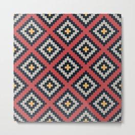 Aztec pattern design Metal Print