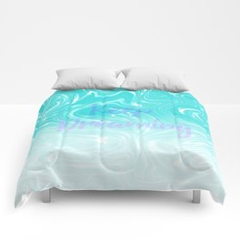 Keep Dreaming Typography on Liquid Marble Design Comforters