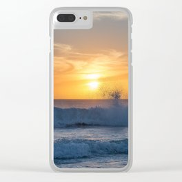 When the Sea meets the Sun Clear iPhone Case