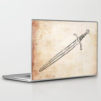 sword Laptop & iPad Skins featuring The Sword by Steve Perrson