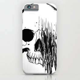 Skull (Distortion) iPhone Case