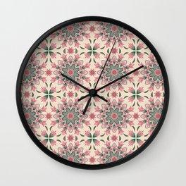 Midsummer Mandala Wall Clock