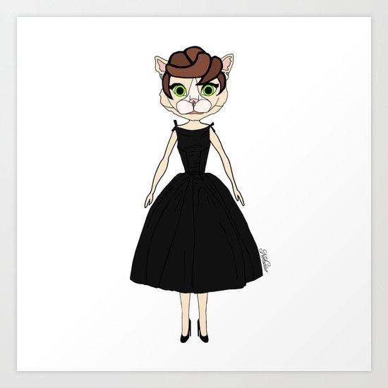 Audrey Cat Art Print